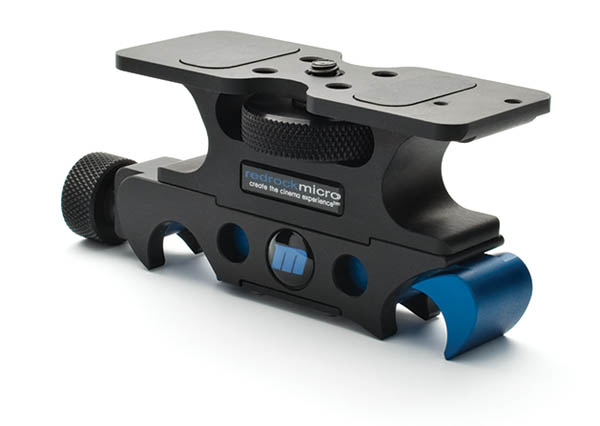 DSLR base plate with quick release for 15mm rods