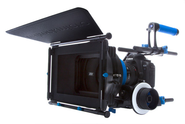Cinema style camera rig for DSLR cameras