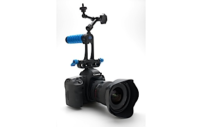 DSLR Camera rig, handheld, Low Down